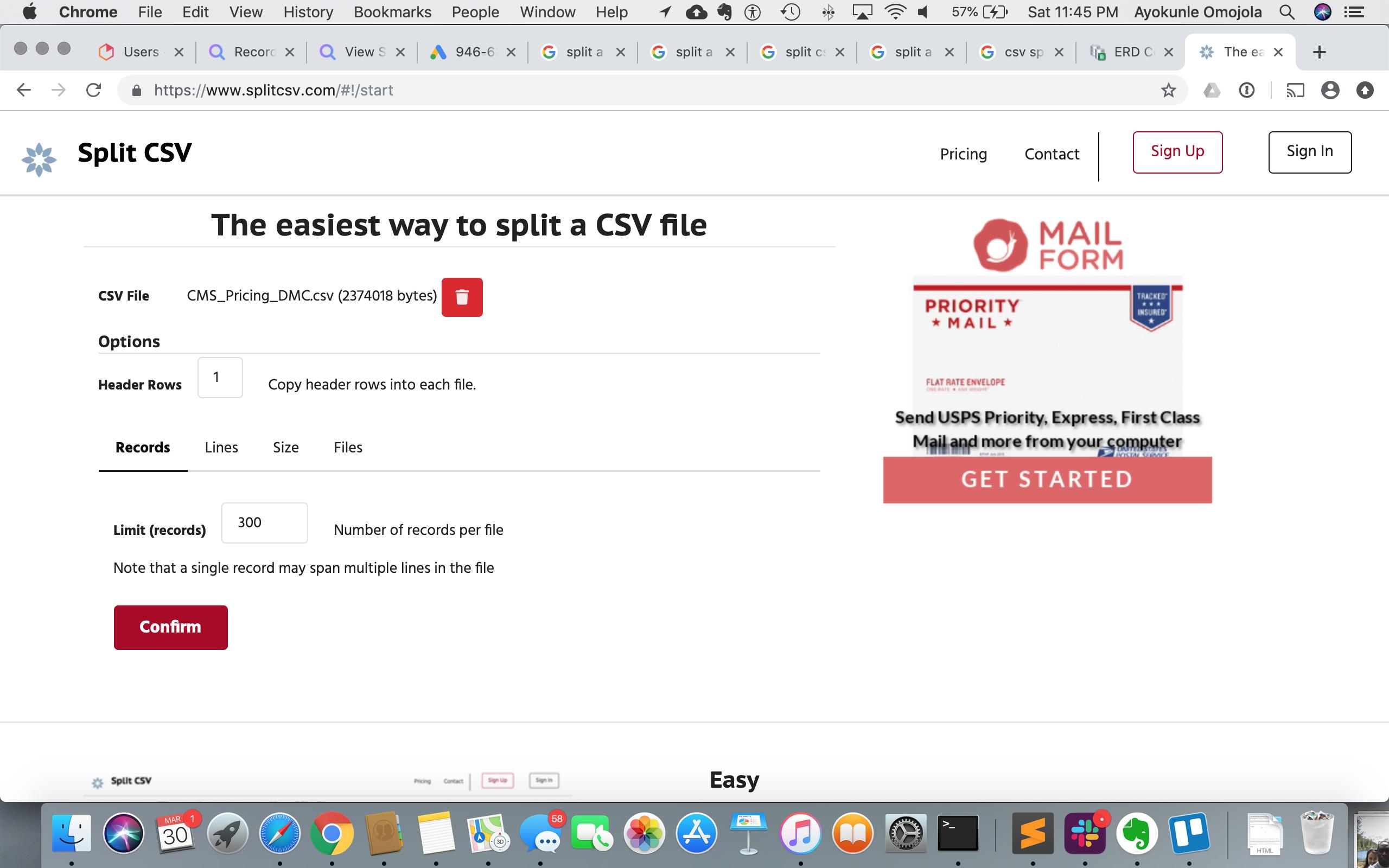 Easy, Free CSV Splitter